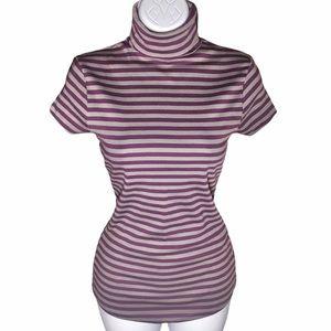 5/$25 BUNDLE Zara Trafaluc Striped Turtleneck Tee